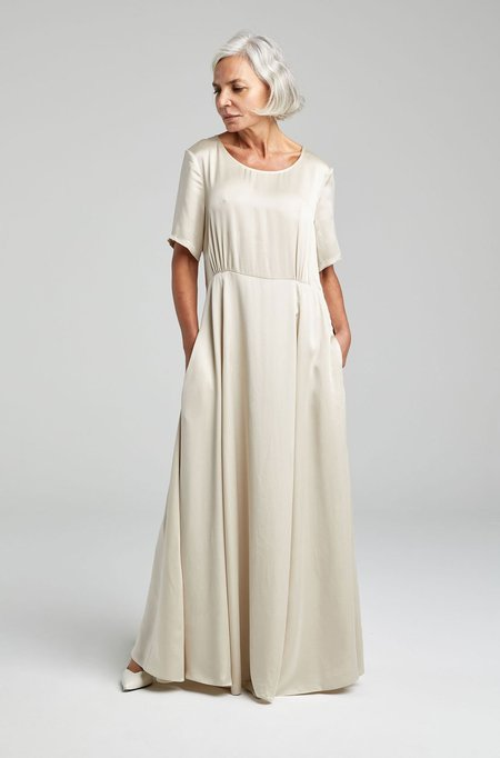 Silk Laundry T-SHIRT DRESS - HAZELNUT