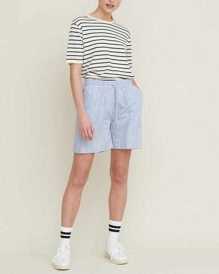 Basic Apparel Soya Stripe T-Shirt - Whisper White/Black