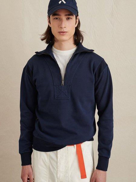 Alex Mill Fleece Half Zip Sweatshirt - Navy