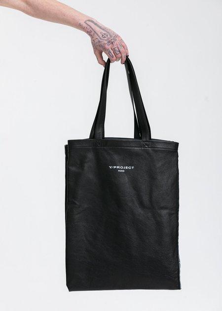 Y/project Tote Bag - Black Scarf Print