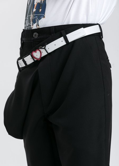 Y/project Y Heart Belt - White
