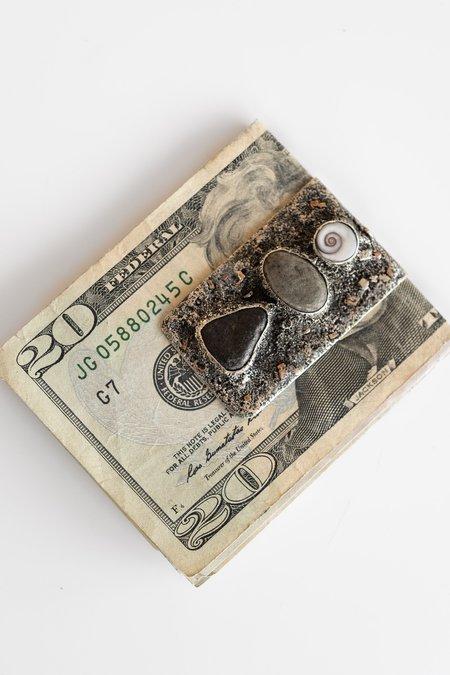 Lou Zeldis INLAY NO. 2 MONEY CLIP - STERLING SILVER