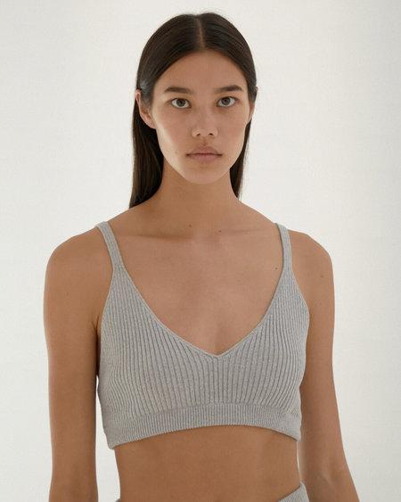 Mónica Cordera ribbed knit top - pearl blue