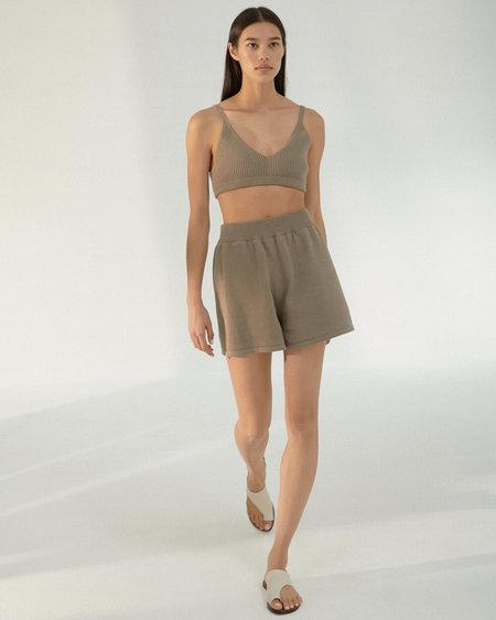 Mónica Cordera monica cordera knit shorts - taupe