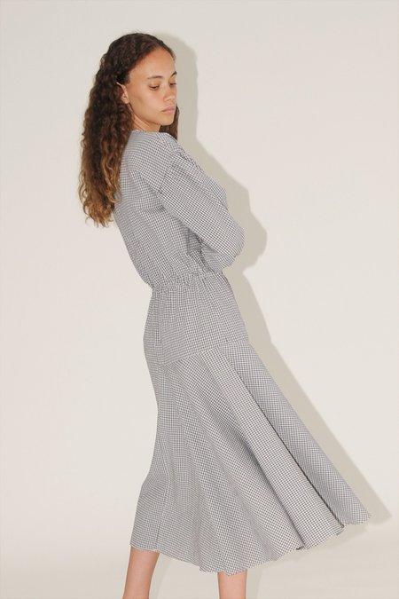 Diarte Camila gingham dress - black