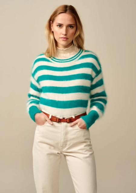 Bellerose Datax Sweater - Green/white