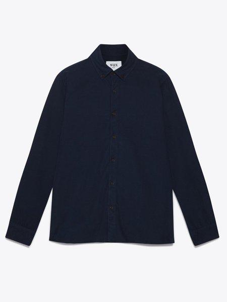 Wax London Babycord Bampton Shirt - Navy
