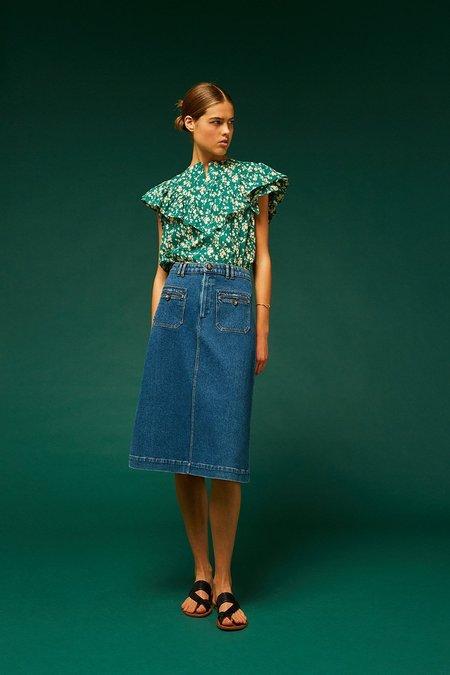 Soeur Judith Denim Skirt - blue
