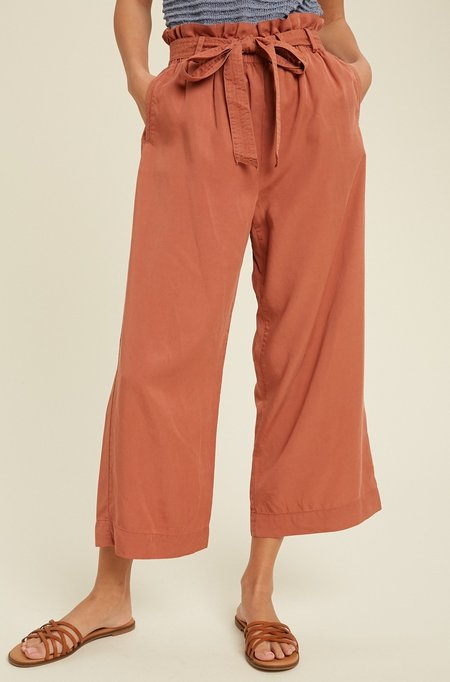 Mabel and Moss Raven Tencel Pants - Apricot
