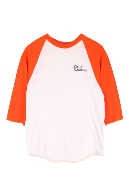 AqC Baseball Tee - Orange Aloha Forever