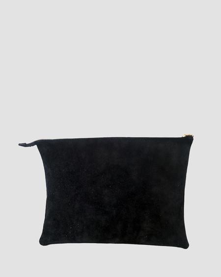 esby leather ESBY PORTFOLIO - BLACK SUEDE