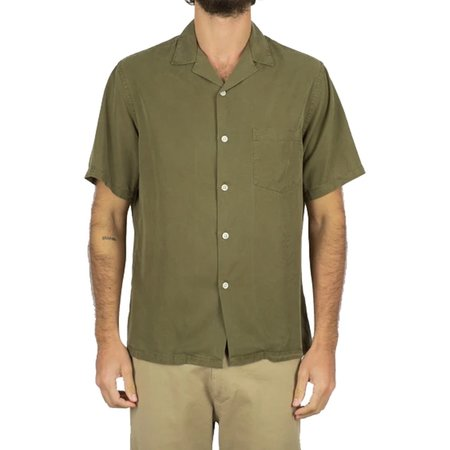 Portuguese Flannel Dogtown Shirt - Olive Green