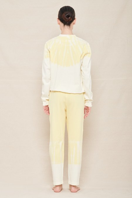 Raquel Allegra Classic Sweatshirt - Yellow/White Hilma