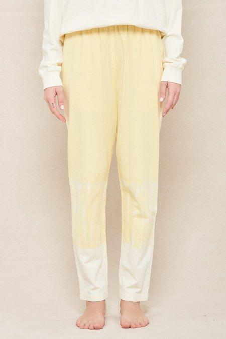 Raquel Allegra Cotton Medley Ankle Pant - Yellow/White Hilma