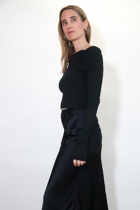 Anna October Anechka Knitted Top - Black