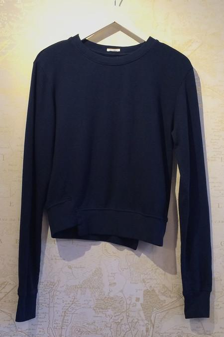Mother Denim Sweatshirt with Asymmetrical Hem