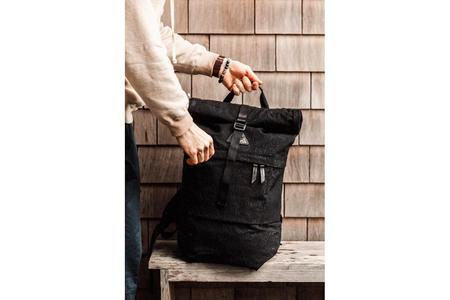 Tanner Goods Koru Rucksack Backpack - Black Konbu