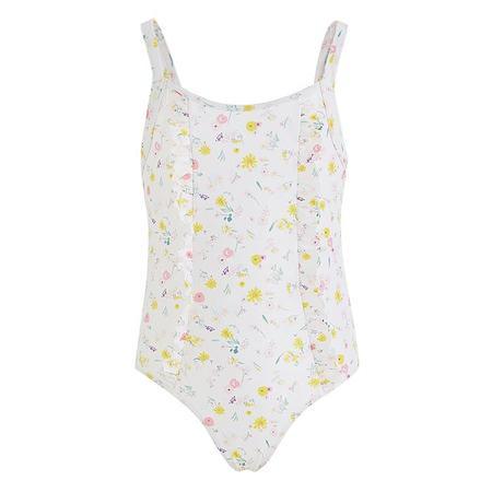kids Petit Bateau Child Floral Print Swimsuit - Pink