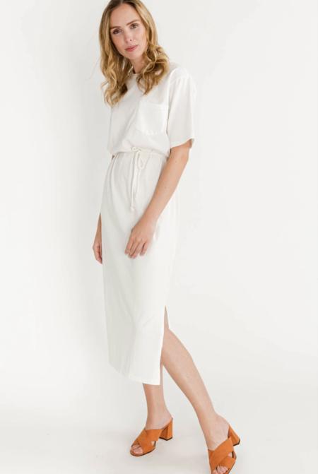 Minimum philine midi dress - broken white