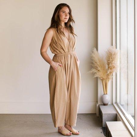 Mónica Cordera Linen Jumpsuit - Nougat