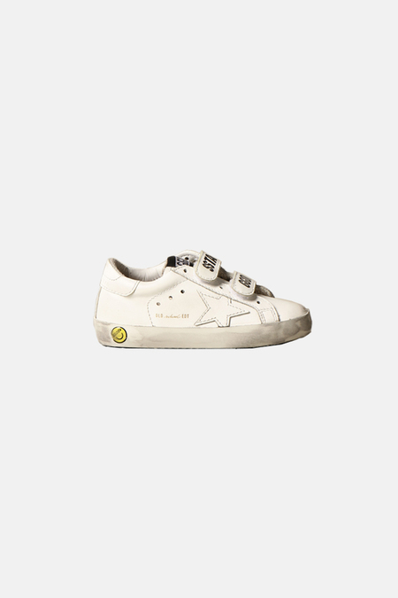 kids Golden Goose Old School Shoes - White