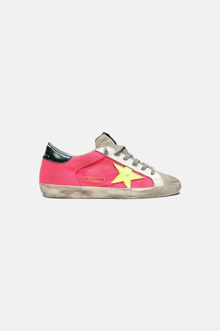 Kids Golden Goose Superstar Shoes - Pink/Yellow