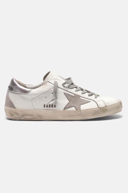 Golden Goose Superstar Shoes - White/Silver
