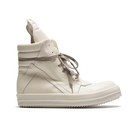 Rick Owens Geobasket Sneakers - Milk