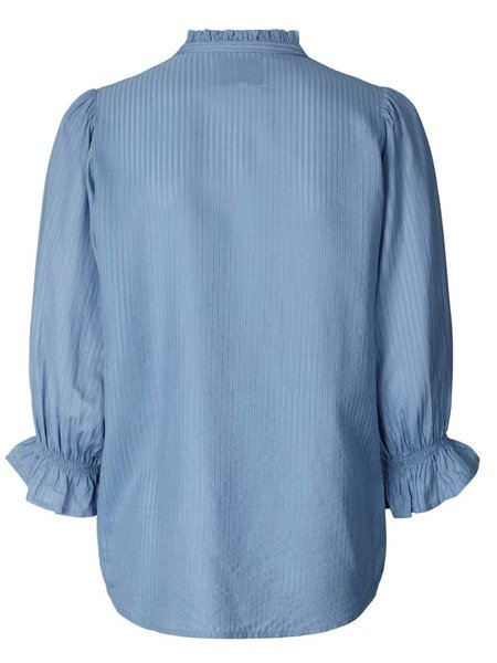 Lolly's Laundry Huxi Blouse - Dusty Blue