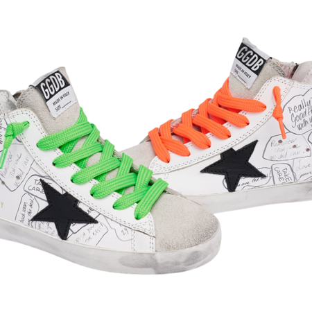 Kids Golden Goose FRANCY Leather Signature Upper Leather Star Suede Toe GJF00113.F000451.10220 sneakers - white