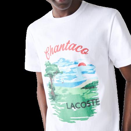 Lacoste Crew Neck Landscape Print Cotton T-shirt - Chantaco