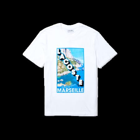 Lacoste Crew Neck Landscape Print Cotton T-shirt - Marseille