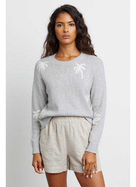Rails Perci Sweater - Heather Grey Palms