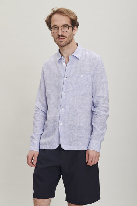 Delikatessen Strong Shirt - Light Blue Bohemian Linen