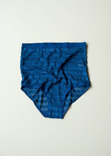Baserange Highwaist Bell Pants - Darya Blue Stripe