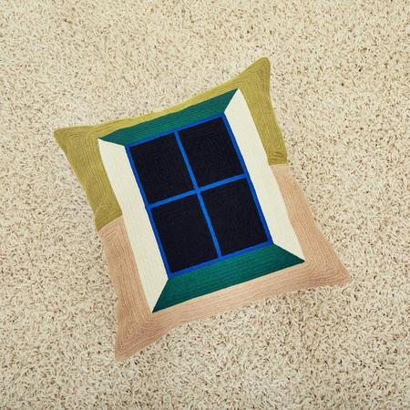 Dusen Dusen Window Embroidered Pillow