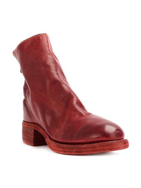 Guidi 796Z Soft Horse Back Zip Boots - red