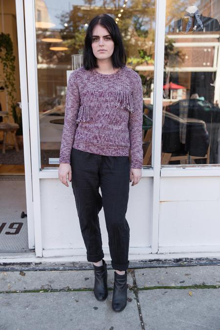 Yerse Fringe Sweater