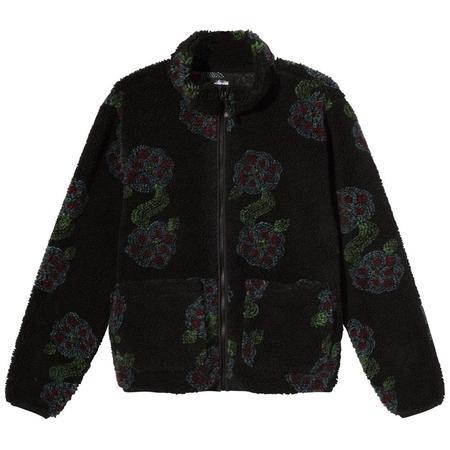 Stussy Flor Sherpa Mock Neck sweater - Black