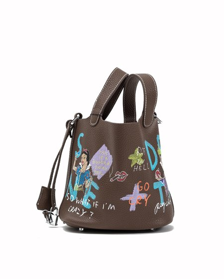 Guernika Paint Cube Snow White and Evil Queen bag - Brown