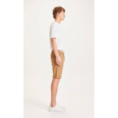 knowledge cotton apparel Chuck loose linen shorts - brown