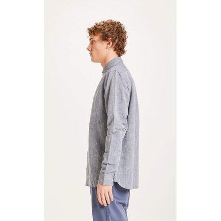 knowledge cotton apparel Larch LS linen shirt - total eclipse