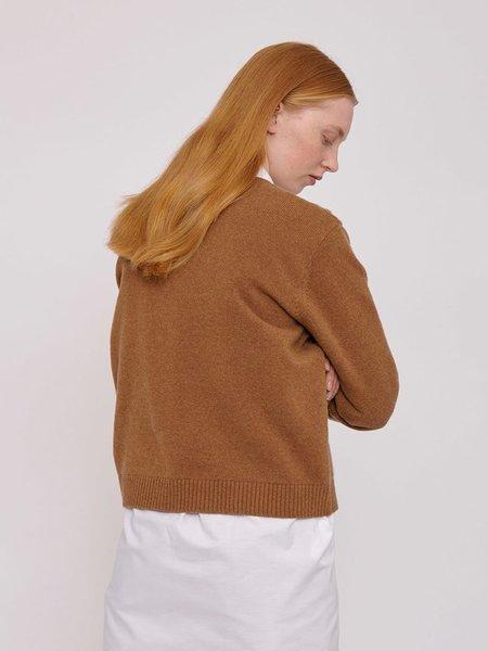 Organic Basics Recycled Wool Boxy Knit - Camel
