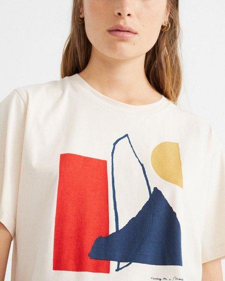 Thinking Mu W Abstract T-Shirt - White