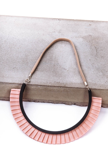 Bat is Black Ribbon Necklace (Pink)