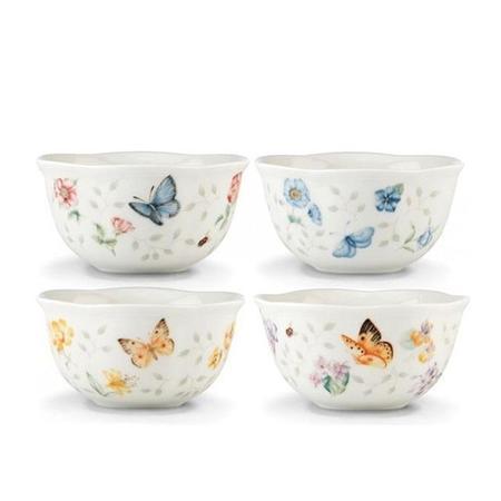 Lenox Set Of 4 Butterfly Meadow Petite Dinnerware Desert Bowl