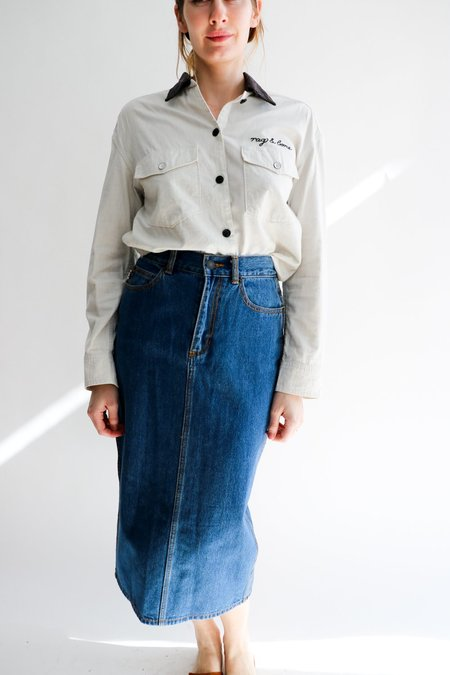 Marc Jacobs Cotton SS21 Skirt - Denim