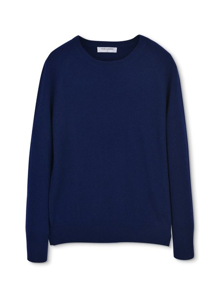 PURECASHMERE NYC Classic Crew Neck Sweater - Dark Navy