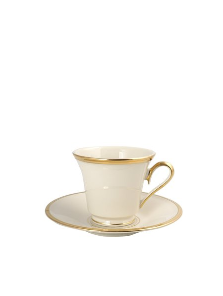 LENOX ETERNAL DW TEA CUP AND SAUCER - ivory