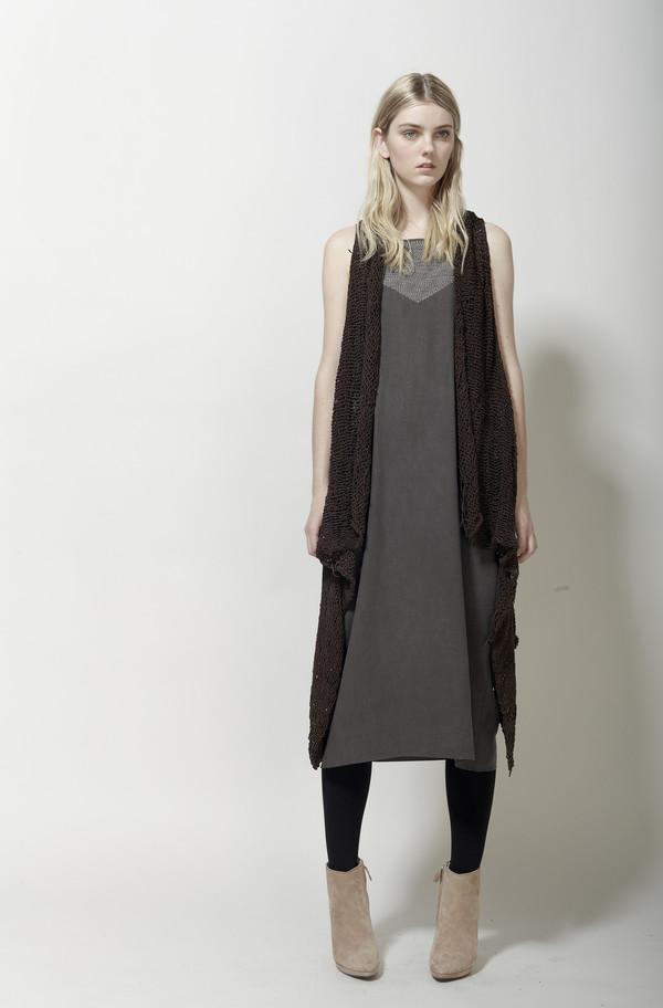 Laura Siegel Handknit Drape Vest